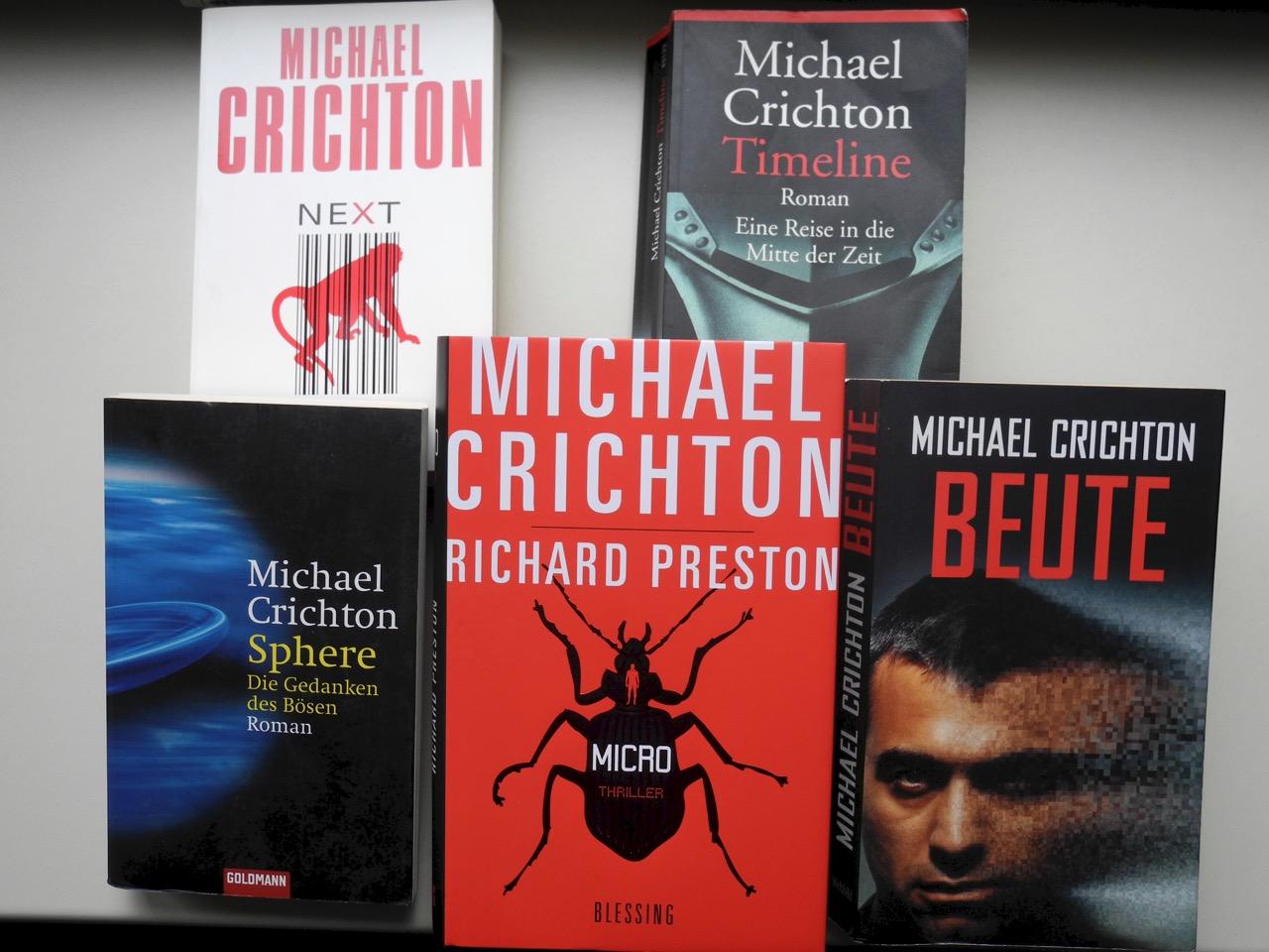 Schenkung: Bücher von Michael Crichton
